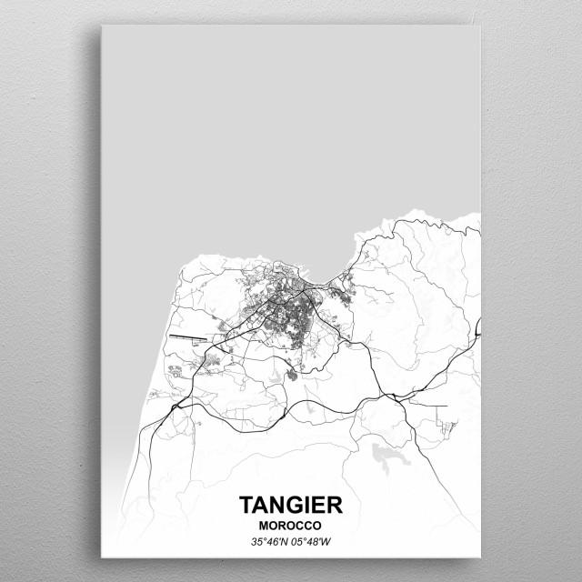 Tangier Morocco metal poster