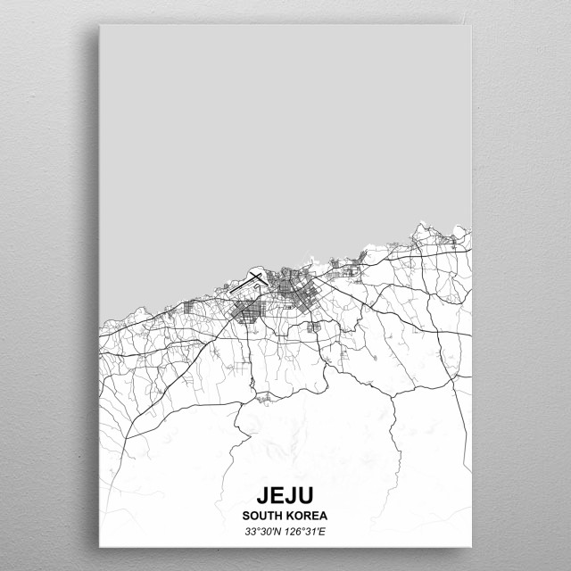 Jeju South Korea metal poster