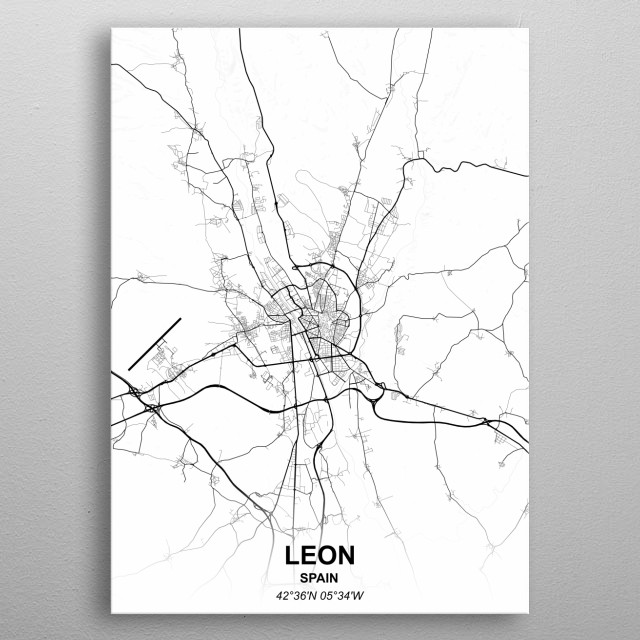 Leon Spain metal poster