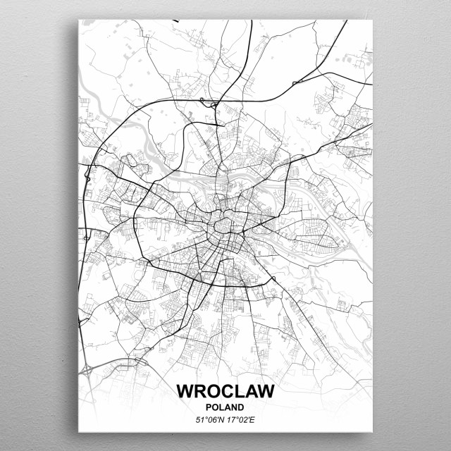 Wroclaw Poland metal poster