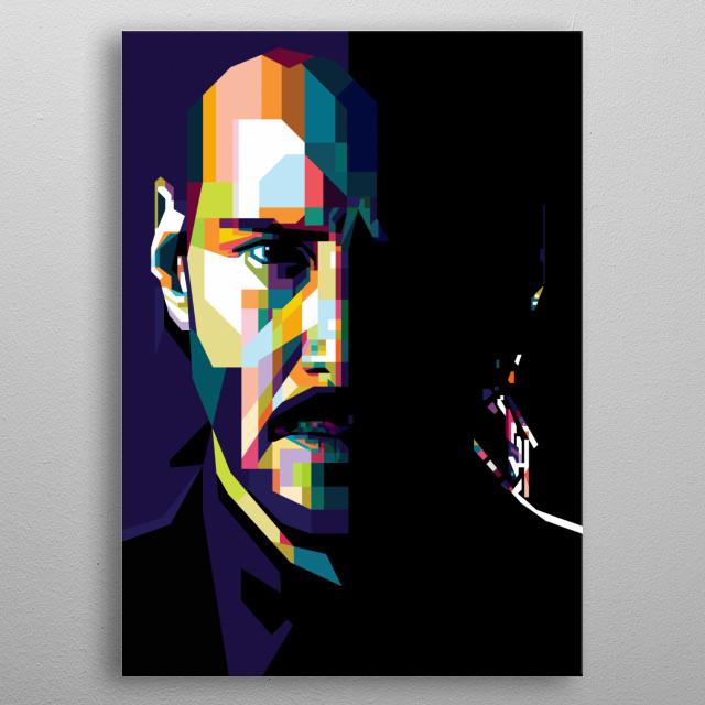 "Pop Art of Keanu ""John Wick"" Reeves from John Wick Movies. metal poster"