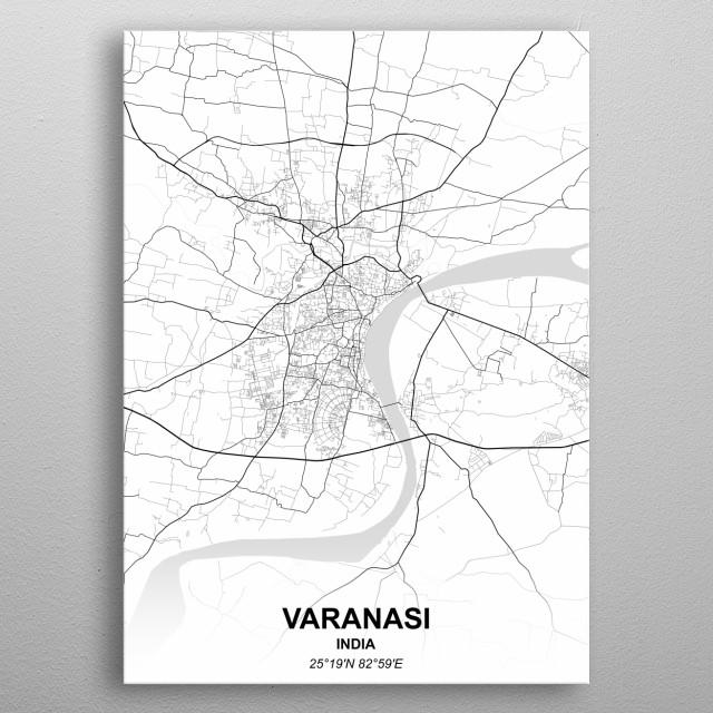 Varanasi India metal poster