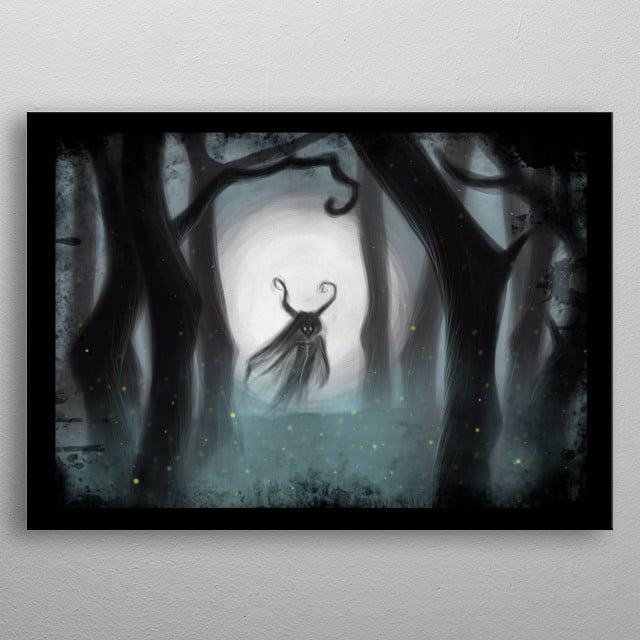 Digital Painting. Illustration inspired from Edgar Allan Poe poem Dream-Land metal poster