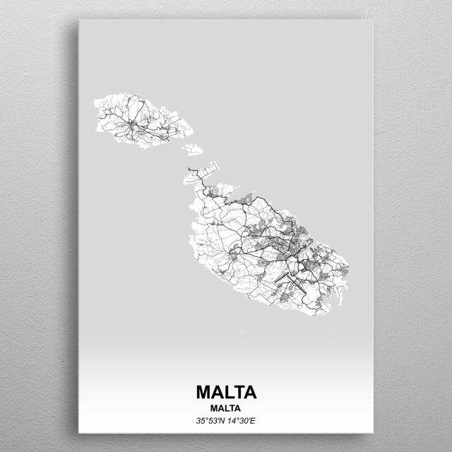 Malta metal poster