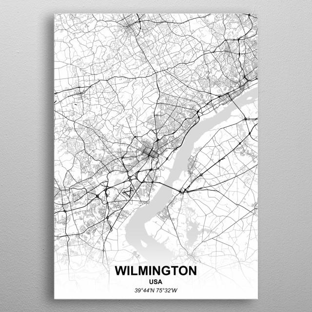Wilmington USA metal poster