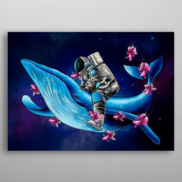 spaceman wanderer metal poster