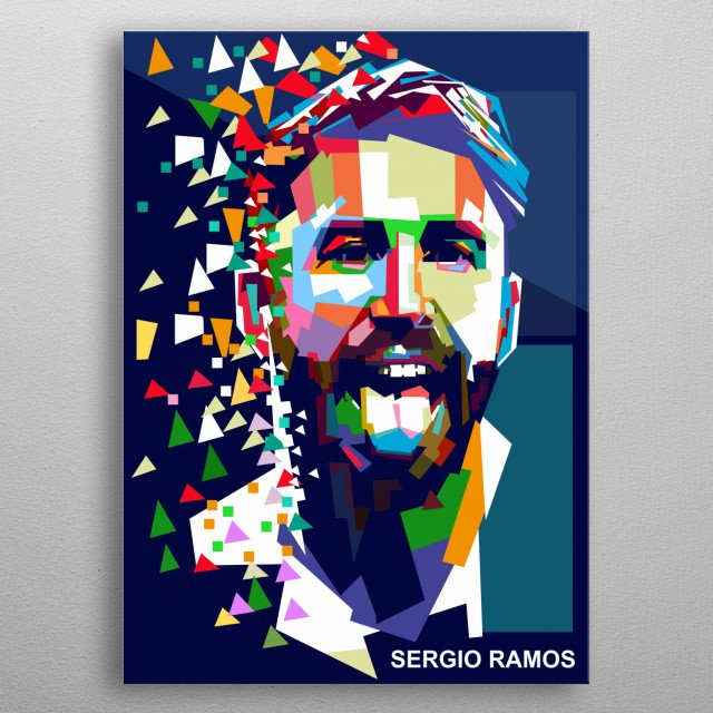 Sergio Ramos García is a Spanish professional footballer who plays for and captains both Real Madrid and the Spain national team as a centre metal poster
