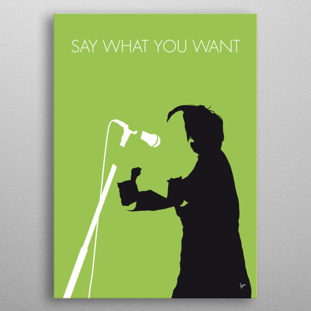 """""""Say What You Want"""" is a song by Scottish group Texas and the first single to be taken from their fourth studio album White on Blonde.  metal poster"""