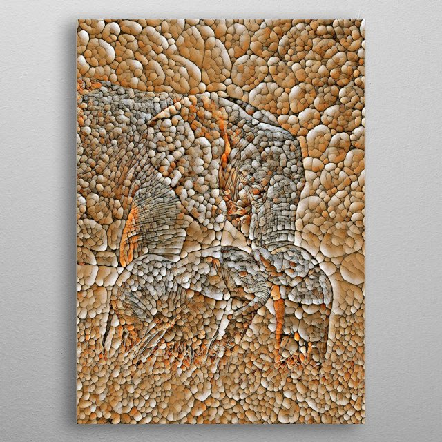 Elephant stone art is a new unique home decor poster suitable for everyone.  metal poster