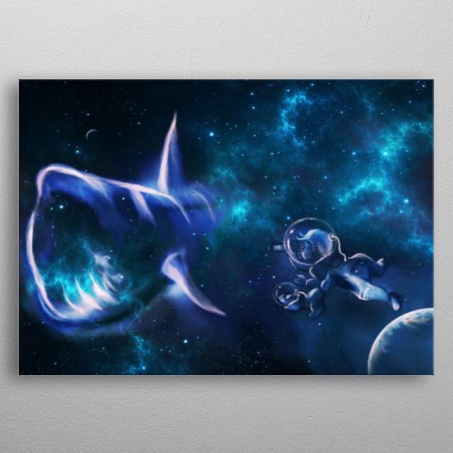 Wonders in space metal poster