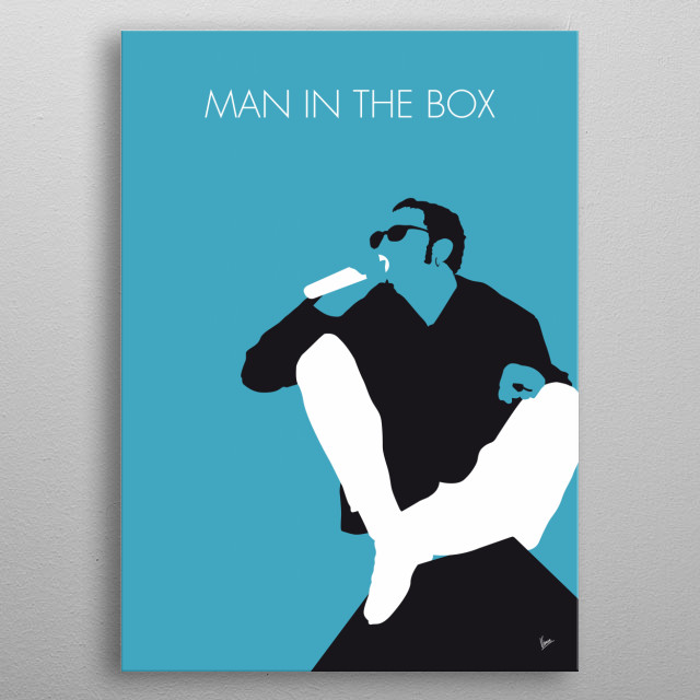 """Man in the Box"" is a song by the American rock band Alice in Chains.  metal poster"