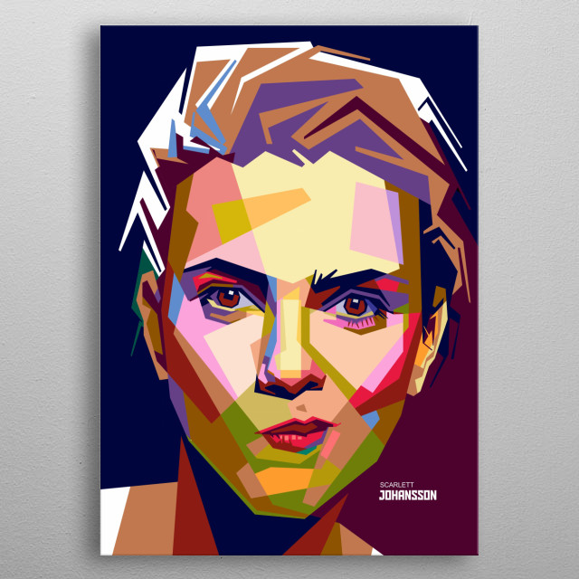 Scarlett Ingrid Johansson is an American actress and singer. metal poster