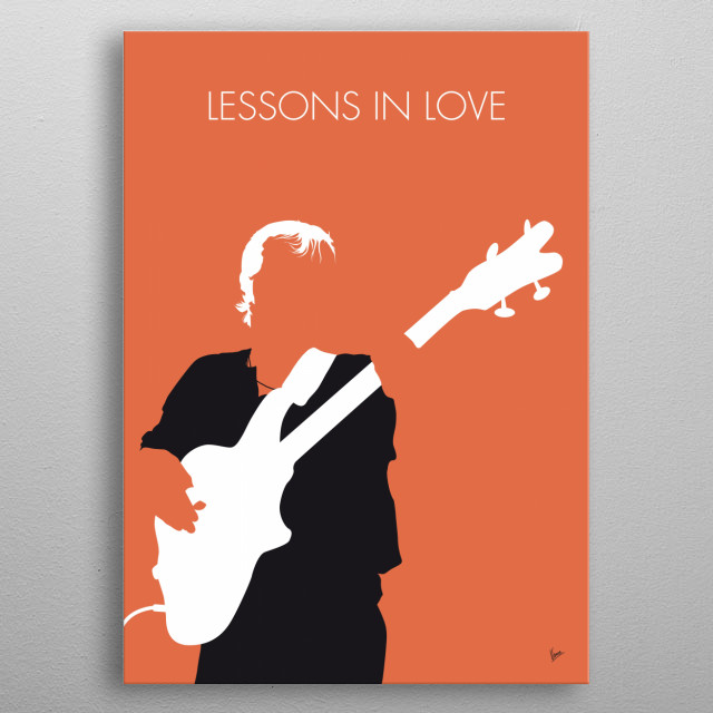 """""""Lessons in Love"""" is a single from the English band Level 42 released in 1986 from the album Running in the Family issued one year later.   metal poster"""