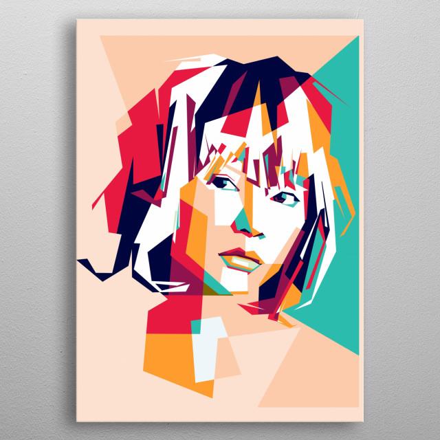 cute woman in pop art portrait illustration  metal poster
