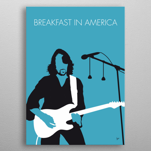"""""""Breakfast in America"""" is the title track from Supertramp's 1979 album of the same name.   metal poster"""