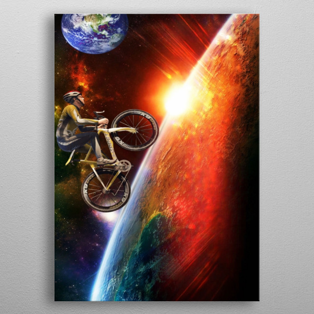Space? Yes! Once Upon a Time when space is just a one bike away. :) metal poster