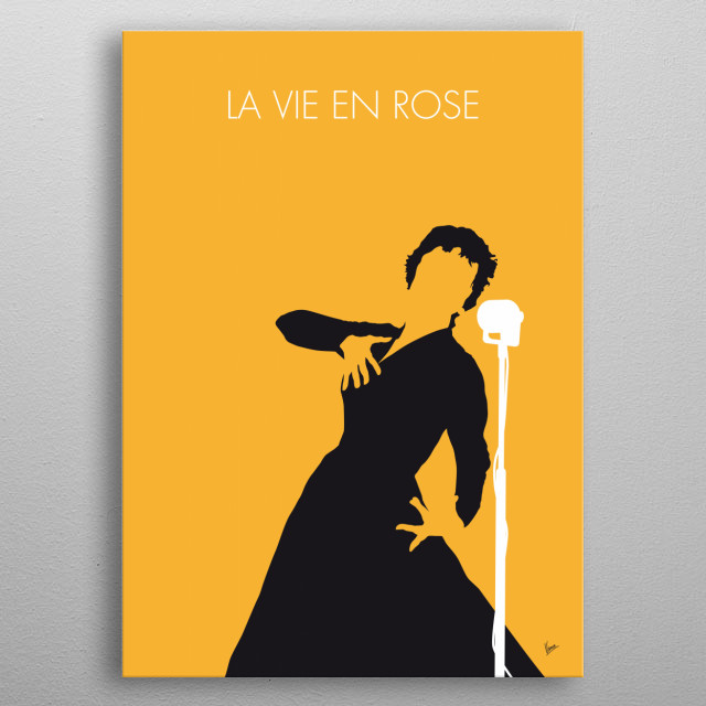 La Vie en rose (Life in pink) is the signature song of popular French singer Édith Piaf written in 1945 popularized in 1946 and released a metal poster