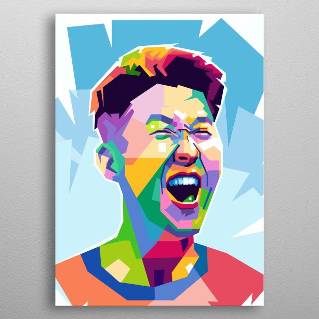 Son Heung-min is a South Korean professional footballer who plays as a winger or a forward for Premier League club Tottenham Hotspur metal poster