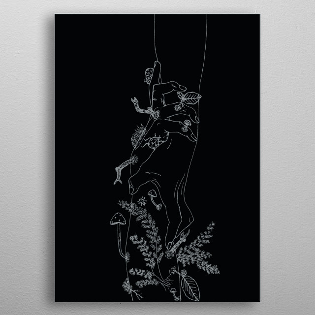 Brief Idea of holding on to nature.  metal poster