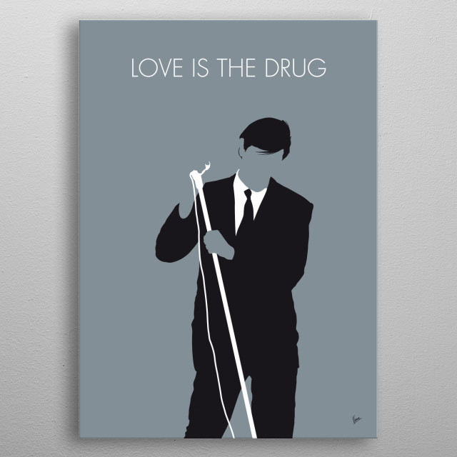"""""""Love Is the Drug"""" is a 1975 single from English rock band Roxy Music's fifth studio album Siren.  metal poster"""