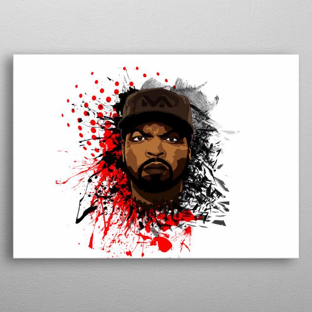 Ice Cube Portrait Illustration / O'Shea Jackson metal poster