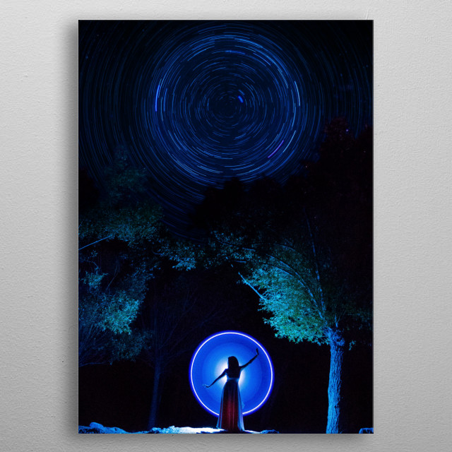 Opening Portal - Indian inspired artwork metal poster