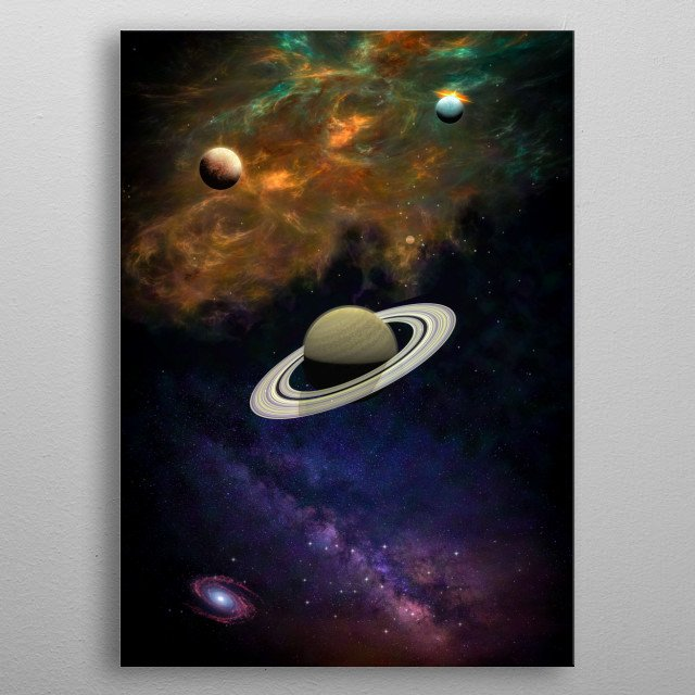 A trip through the deep space, our wonderful universe metal poster