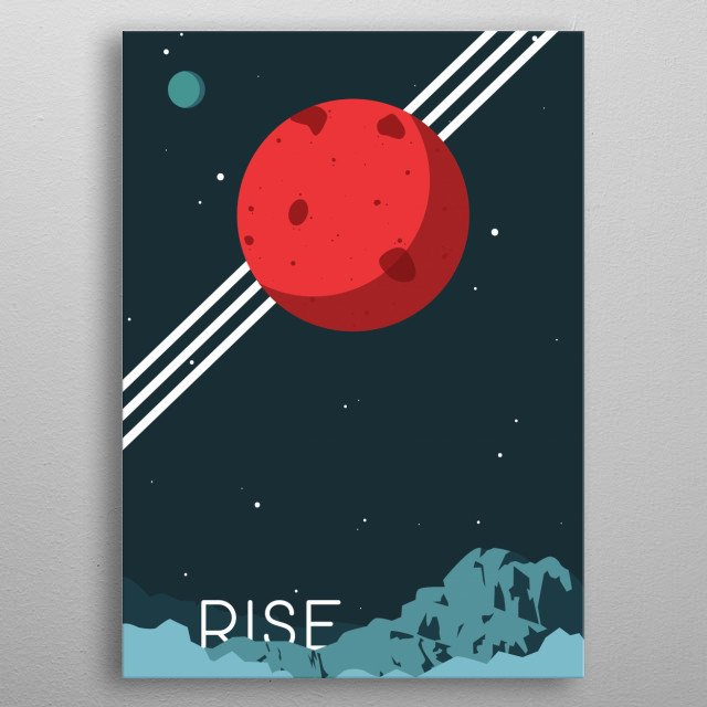 Break the Chains! Vintage style intergalactic poster. Inspired by Red Rising by Pierce Brown. The rising of Mars begins! metal poster
