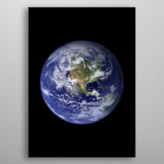 Our planet earth on the western hemisphere. metal poster