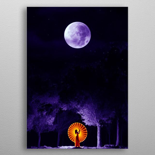 Moon dance ritual - Indian inspired artwork  metal poster