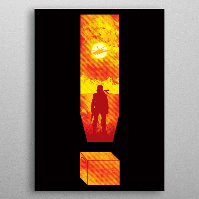 """Inspired by the game """"Metal Gear Solid."""" I hope you like it! :) metal poster"""