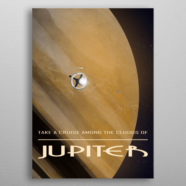 Jupiter travel poster for the near future. metal poster