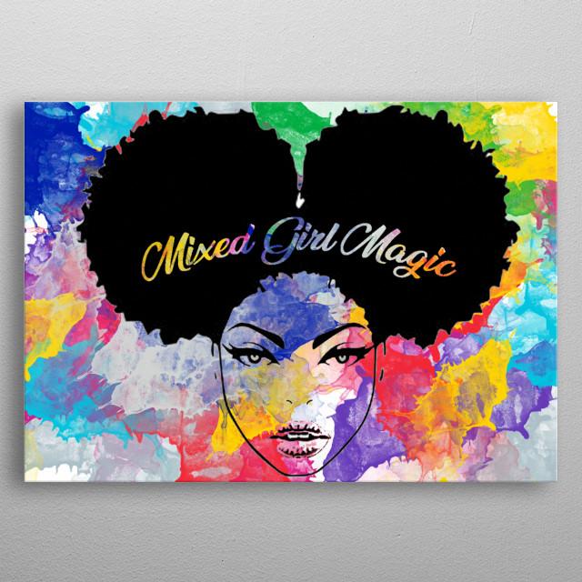 Mixed Girl Magic Abstract Poster Print Metal Posters