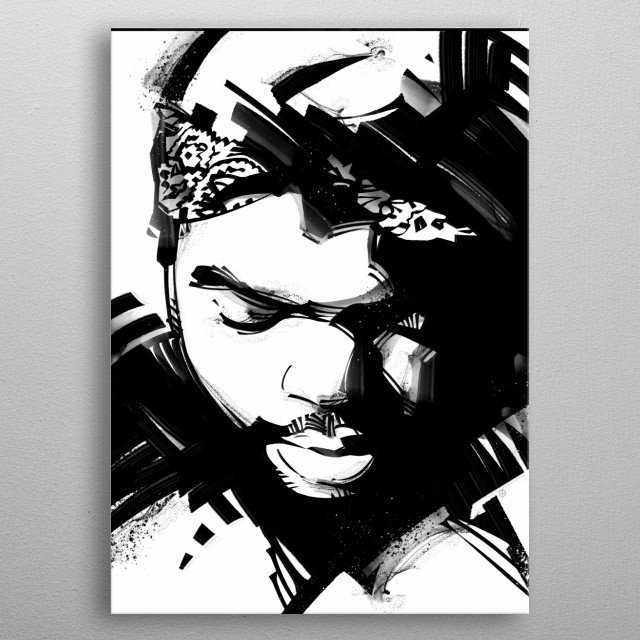 High-quality metal print from amazing Music Legends collection will bring unique style to your space and will show off your personality. metal poster