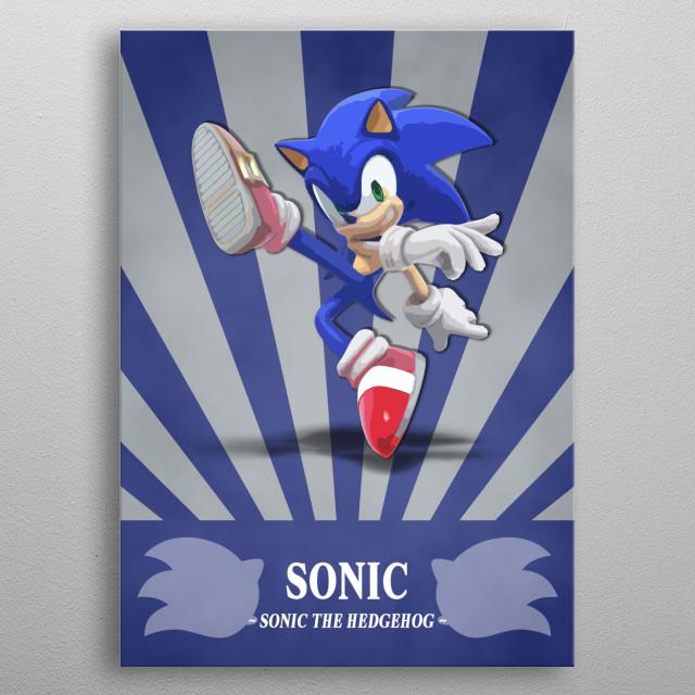 Sonic The Hedgehog Radial Gaming Poster Print Metal