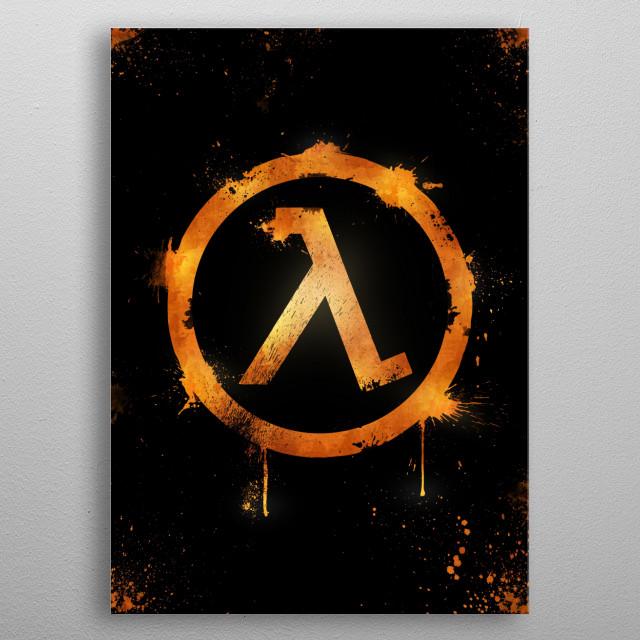 2D Half Life Logo metal poster