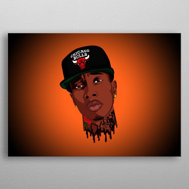 illustration portrait of rapper TYGA / Michael Ray Nguyen Stevenson metal poster