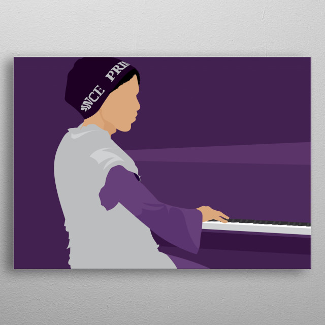 Purple man piano show 2016 metal poster