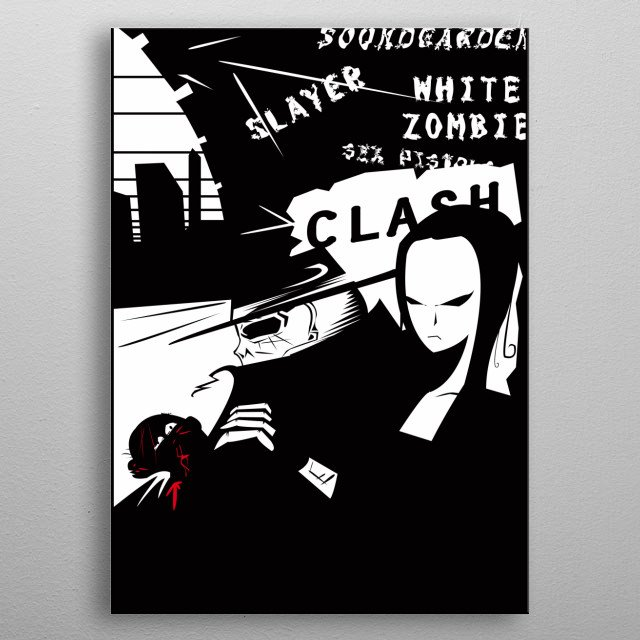 Death Man is the name of a fictional vintage graphic novel, created by Tiago f Moura. metal poster
