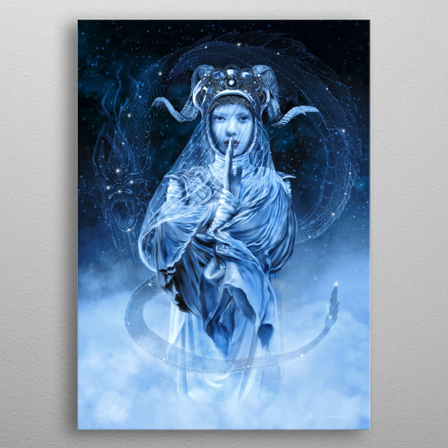 A classical warrior woman for modern times. metal poster
