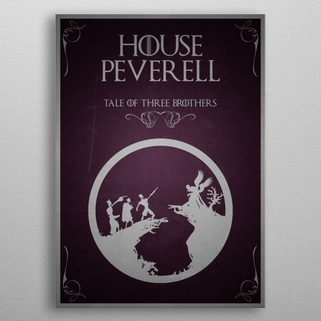 House Peverell metal poster