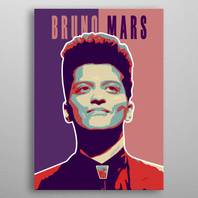 Bruno Mars, is an American singer-songwriter, multi-instrumentalist, record producer, and dancer. metal poster