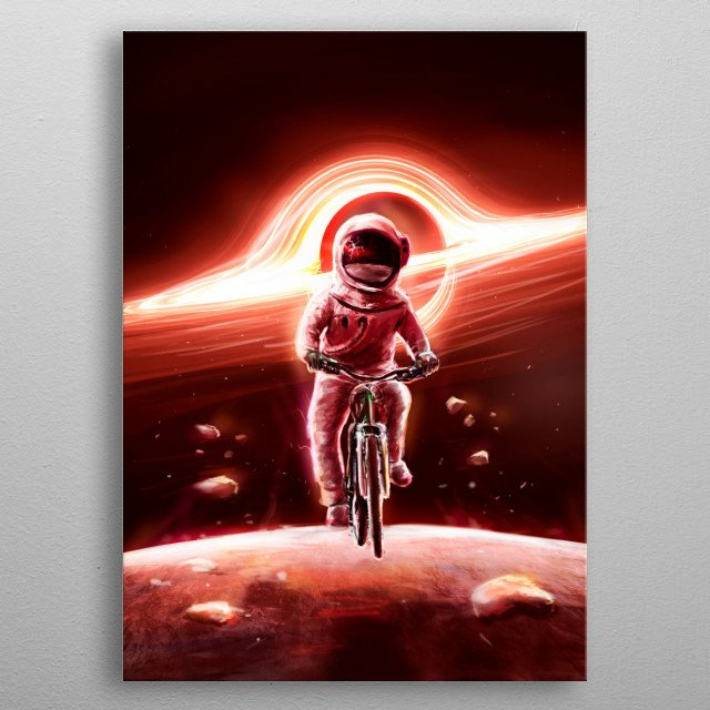Nothing gives you more adrenaline than pedaling near a dark hole metal poster