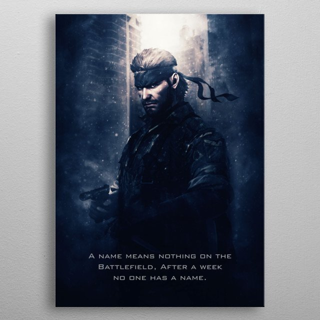Metal Gear Solid Snake metal poster