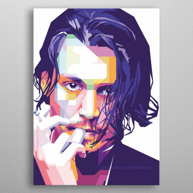 Johnny Depp WPAP Style  metal poster