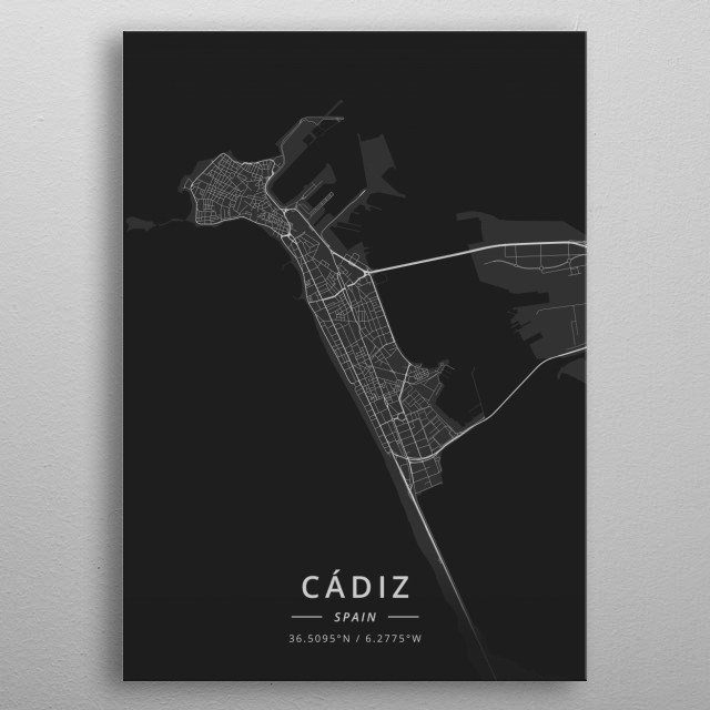 Cadiz, Spain metal poster