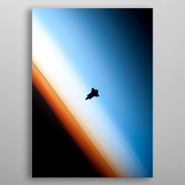 Space Shuttle Endeavour Silhouette. metal poster