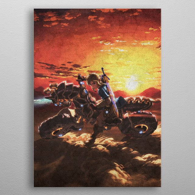 Link's Sunset metal poster