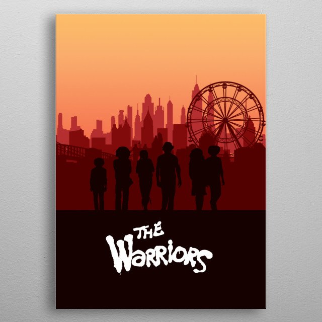 The Warriors on their way home to Coney Island metal poster