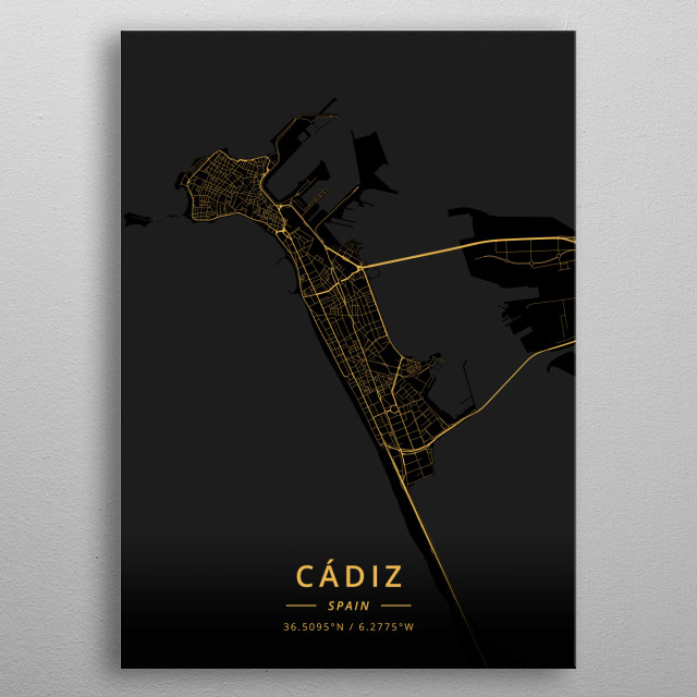 Cadiz, Spain metal poster